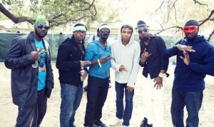 Childish Gambino with the Turquoise Jeep Crew